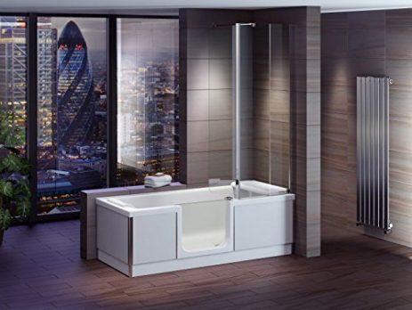 Duschbadewanne | Badewanne mit Duschtrennwand | Badewanne mit Duschverkleidung | Badewanne mit Duschwand