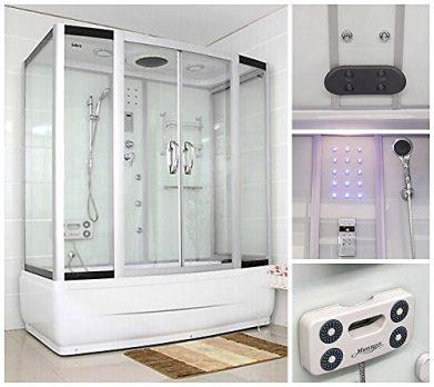 Duschtempel | Badewanne und Dusche | 2 in 1 Badewanne | Badewanne mit Duschkabine