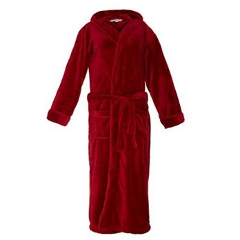 Bademantel damen | roter Bademantel damen | damen Bademantel rot | flauschig weich Bademantel damen | fleece Bademantel damen |