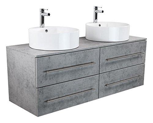 badm bel novum xl beton mit aufsatzwaschbecken. Black Bedroom Furniture Sets. Home Design Ideas