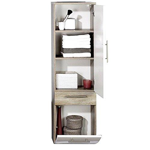 badmöbel set 5-teilig ● anthrazit hochglanz ● badezimmer komplettset:  spiegelschrank, waschtisch mit unterschrank, hochschrank, hängeschrank,