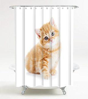 Duschvorhang,  180x180 Duschvorhang, Badevorhang, Badevorhang 180x200 , Katze duschvorhang, badevorhang Katze, 180x200 duschvorhang Katze