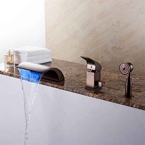 Waschbecken Armatur Badezimmer.Lhbox Moderne Schwarze Antiken Badewanne Armatur Led Wasserfall Mit