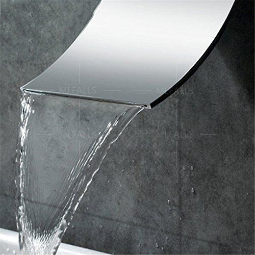 Moderne Messing Verchromt In Der Wand Verdeckt Zwei Quadratmeter Badewanne Armatur Wasserfall Auslass Heisse Und Kalte Mischventil Wc Waschtisch