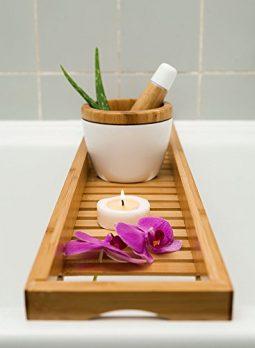 Badewannenbrett, Bambus Badewannenbrett, Badewannenauflage, Badewannenablage