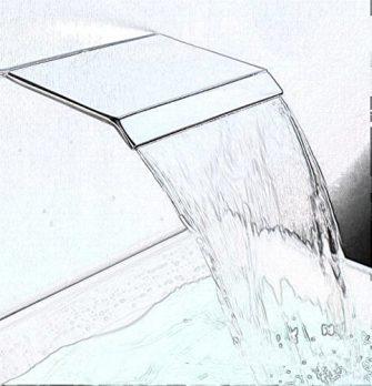 Wasserfall Armatur , Wasserfall Duscharmatur, Wannenarmatur Wasserfall