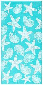 Strandtuch blau, blaues Strandtuch, Tuch für Strand